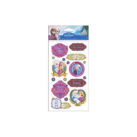 Disney Frozen Anna & Elsa Stickers, 1 Each](Elsa Stickers)