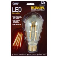 BPST19/LED The Original Vintage Style Bulb 60W Edison Equivalent Medium Base Clear Dimmable LED Light