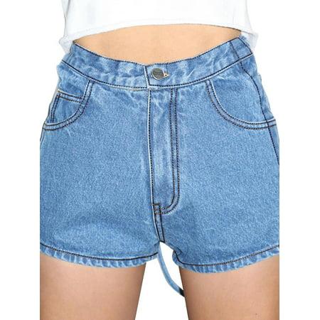 Utowu Womens Stylish Waist Tie Strappy Denim Shorts Ladies Short Jeans Pants Trousers