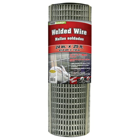 YARDGARD 24 inch by 25 foot 16 gauge, 1/2 inch by 1 inch mesh galvanized welded wire
