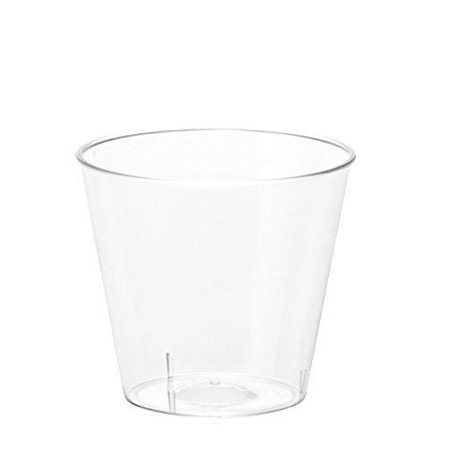 1 ounce Clear Plastic Shot Glasses - Box of 100 (1 oz) Shot Cups - Shot Glass Cups