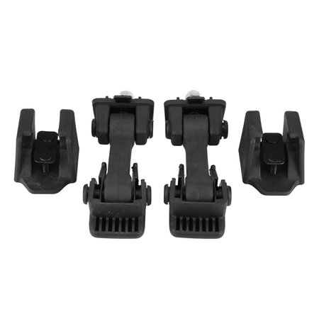 Yosoo 2 Set of Hood Latch Safety Catches & Brackets for Jeep Wrangler JK 2007-2016 55395653AF , 55395653AF ,Hood Latch Catch
