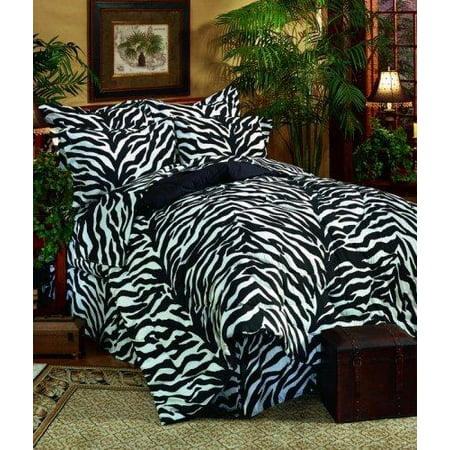 Kimlor Mills Karin Maki Zebra Complete Bed Set, Full, Black ()
