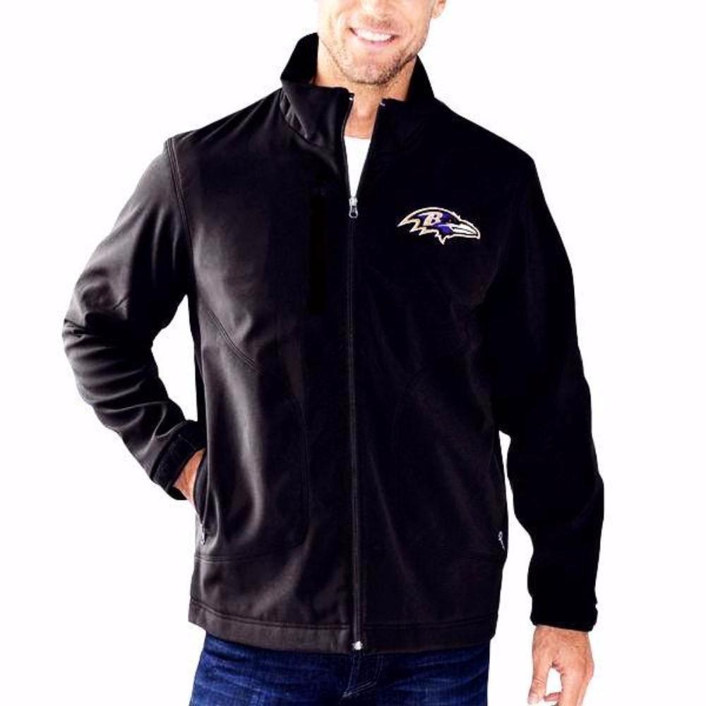 Baltimore Ravens Full-Zip Black Soft Shell Jacket by G-III Sports