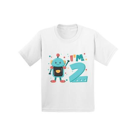 Awkward Styles 2nd Birthday Infant Shirt Robot Birthday Party Robot Baby Shirt Second Birthday Shirt 2nd Year Old Shirt My 2nd Birthday Gifts for Birthday Boy Birthday