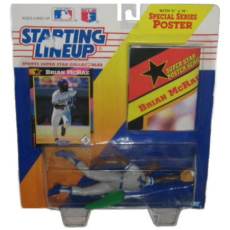 Mlb Baseball Brian Mcrae Royals Starting Line Up Figure W Card Poster