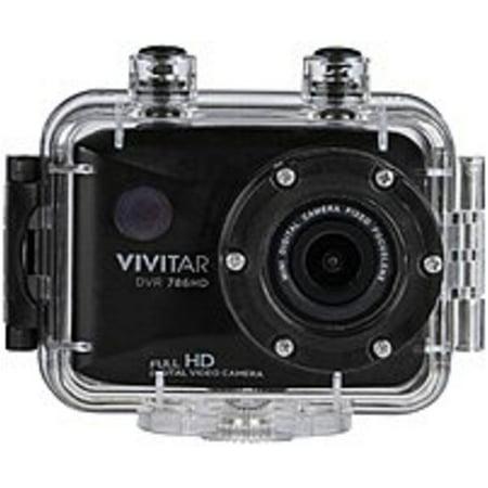 Refurbished Vivitar DVR786HD 12.1 Megapixel Action Camera - 4x Optical/4x Digital - 2-inch LCD Display - Waterproof - Black