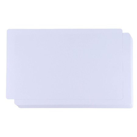 White Cardstock - 60-Pack 150GSM White Card Stock Paper with Rounded Corners, Blank Sheets for Award Certificates, Legal Sized, 8 x 14