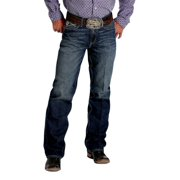 Cinch Western Jeans Mens Grant Relaxed Sanding Medium Wash MB77637002