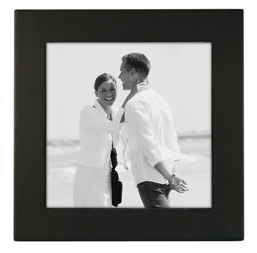 5x5 Picture Frame LINEAR - Black Wood
