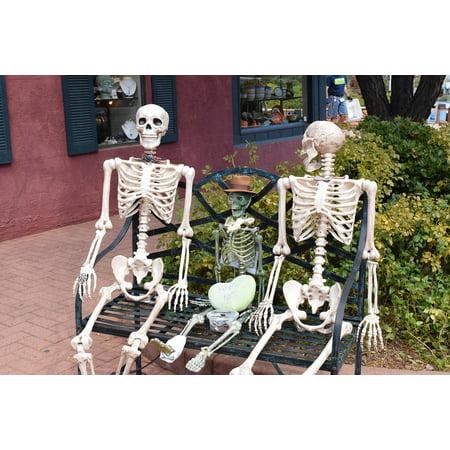 Laminated Poster Sedna Arizona Skeleton Bench Halloween Poster Print 11 x - Halloween Events In Arizona
