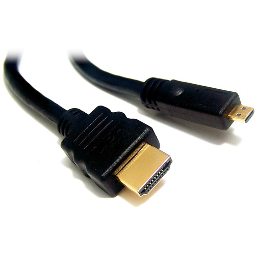 Micro Connectors 6' High Speed HDMI A Male to Micro-D Male Cable