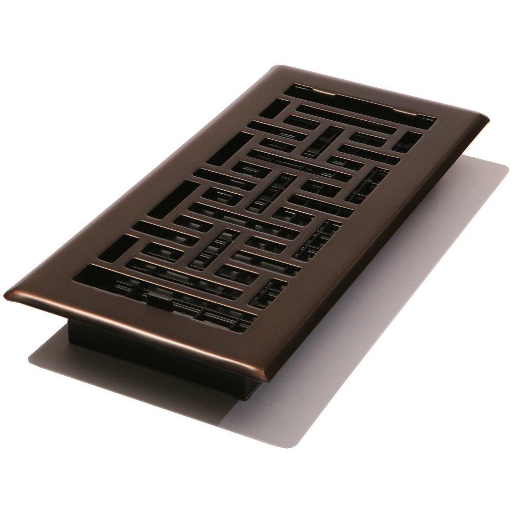 AJH414-RB Oriental Floor Register, Rubbed Bronze, 4-Inch ...