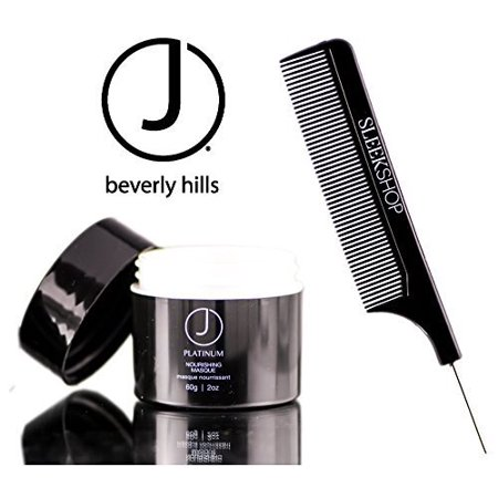 J Beverly Hills Platinum Nourishing Masque (with Sleek Steel Pin Tail Comb) Mask - 2 oz / 60 g - travel size Beverly Hills Masque
