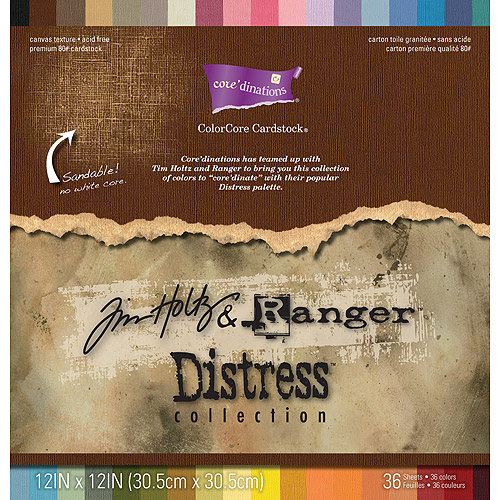 """Core'dinations Distress Cardstock pack, 12"""" x 12"""""""