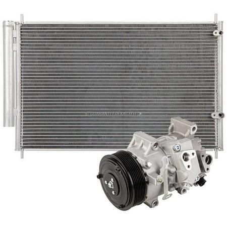 AC Compressor w/ A/C Condenser & Drier For Scion Xb 2012 2011 2010 2009 2008