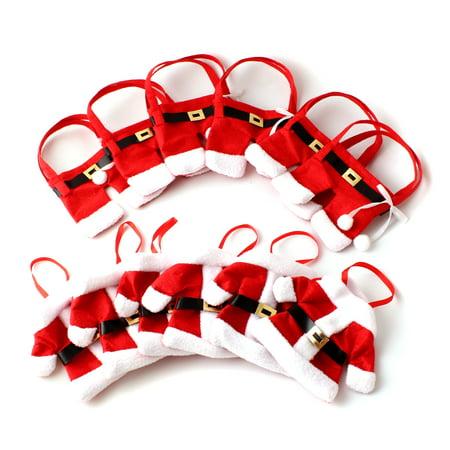 6 Sets Christmas Cutlery Silverware Set Decoration Santa Suit Holder Pockets