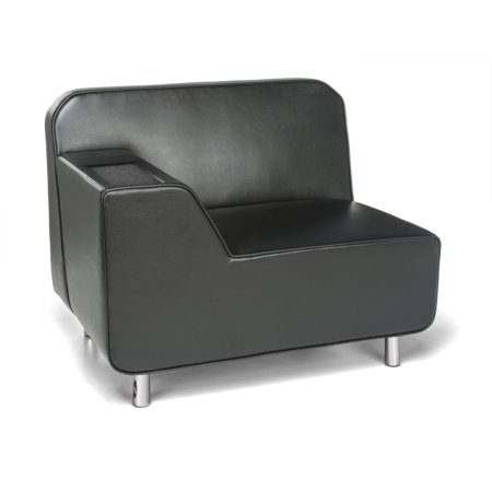 5000R-BLK-TG Home Furniture BLACK TUNGSTEN Serenity Series 500 lbs Capacity Right Arm Soft Seating Lounge SOFA Reception Chair ()