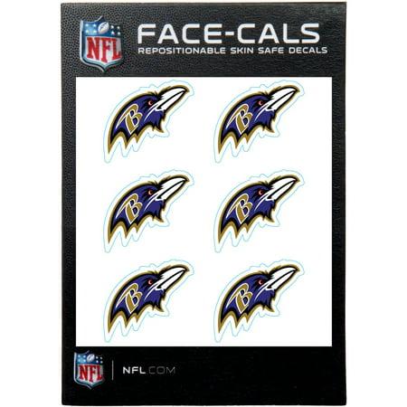 Baltimore Ravens 6-Pack Mini-Cals Face Decals - No Size Baltimore Ravens Window Decals