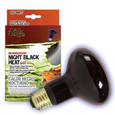 Zilla Night Black Heat Incandescent Spot Bulb, 150 watt