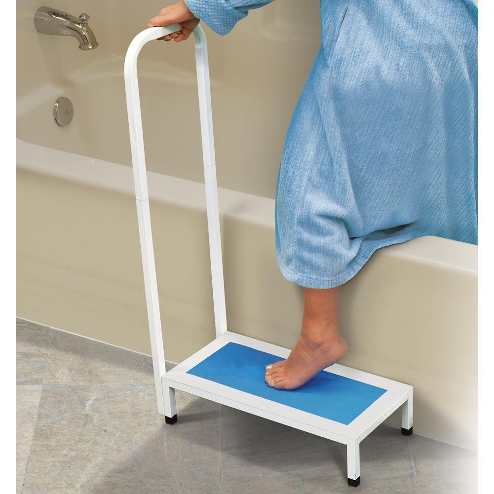Bath and Shower Step Stool with Handle - Walmart.com