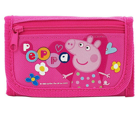Peppa Pig Character Authentic Licensed Pink Trifold Wallet