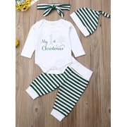 Multitrust Infant Baby Girl Boy Christmas Clothes Romper Top Pants Xmas Outfit