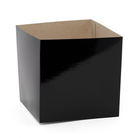 50ea - 6 X 6 X 3 Black Heavy Wall Gift Box Bottom by Paper (Heavy Gift Boxes)