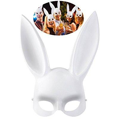 Oulii men women masquerade bunny rabbit mask halloween costume oulii men women masquerade bunny rabbit mask halloween costume accessory easter gift or birthday gift negle Choice Image