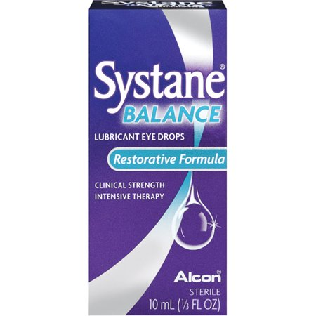SYSTANE ® BALANCE Lubricant Eye Drops help support and restore your eyes' delicate lipid layer by replenishing essential moisture to your eyes. This clinical-strength intensive therapy provides lasting relief from moderate to severe symptoms of dry eye.5/5.