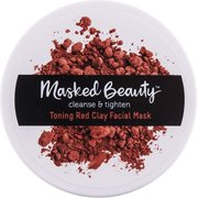 Masked Beauty Cleanse & Tighten Toning Red Clay Facial Mask, 3.38 oz