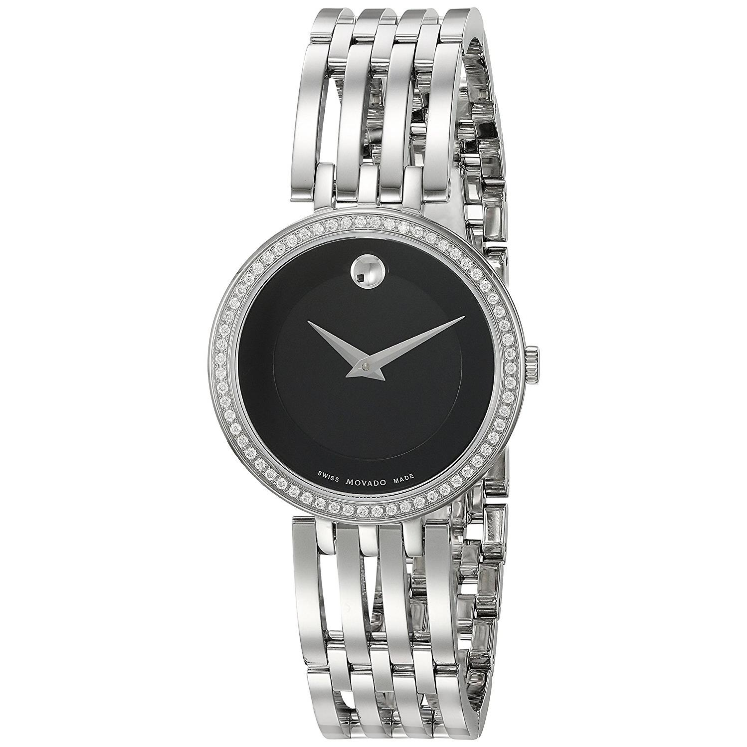 Movado Women's 28mm Steel Bracelet & Case Swiss Quartz Bl...