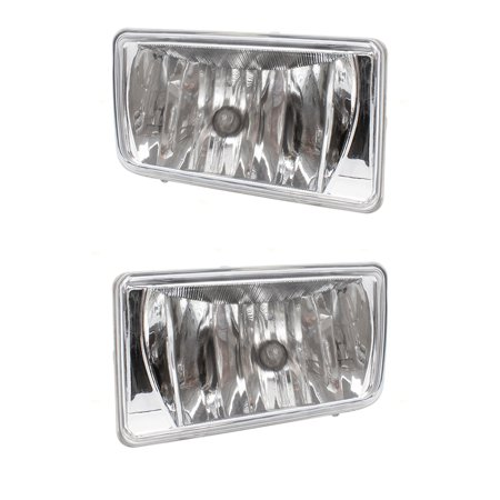 Driver and Passenger Fog Lights Rectangular Lamps Replacement for Chevrolet Pickup Truck SUV 25883245 25883246