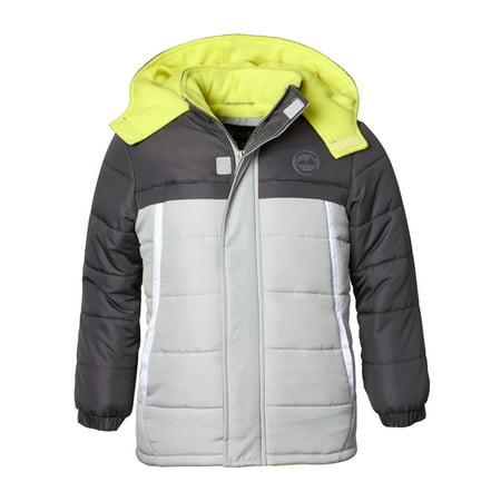 f5616fb294c01 iXtreme - Hooded Tonal Colorblock Puffer Jacket Coat (Baby Boys   Toddler  Boys) - Walmart.com