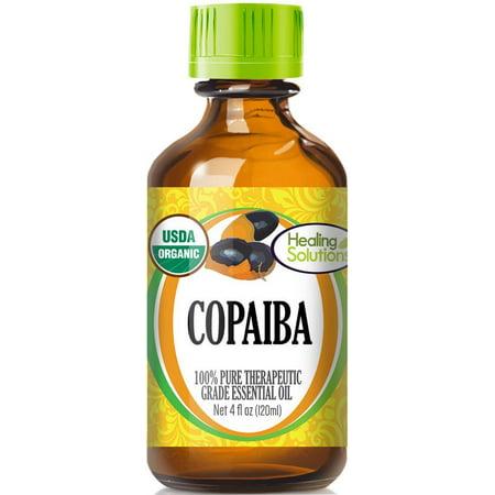 Organic Copaiba Essential Oil (100% Pure - USDA Certified Organic) Best Therapeutic Grade Essential Oil -