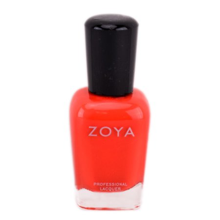 Zoya Natural Nail Polish - Orange & Coral - Color : Rocha - ZP735 (Orange And White Halloween Nails)