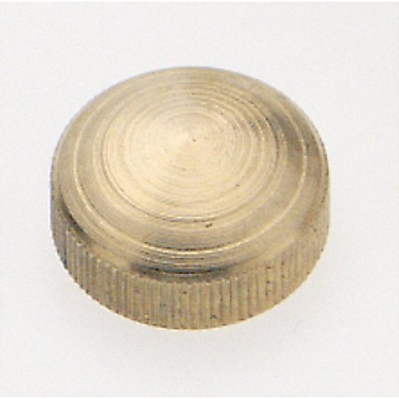 Lacquered Brass Cap (Satco Brass Lock-Up Cap 1/8 IP Burnished and Lacquered )