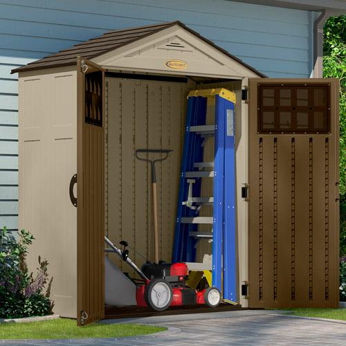 Garden Sheds 6 X 3 suncast 6 x 3 everett storage shed - walmart