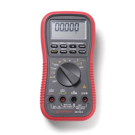 Amprobe AM-140-A True RMS Auto/Manual Ranging Digital Multimeter with Optical PC