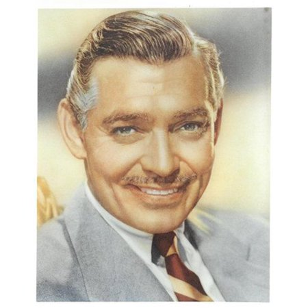 Clark Color Photo (Athlon Sports CTBL-022196 Clark Gable Unsigned Vintage Color 8 x 10)