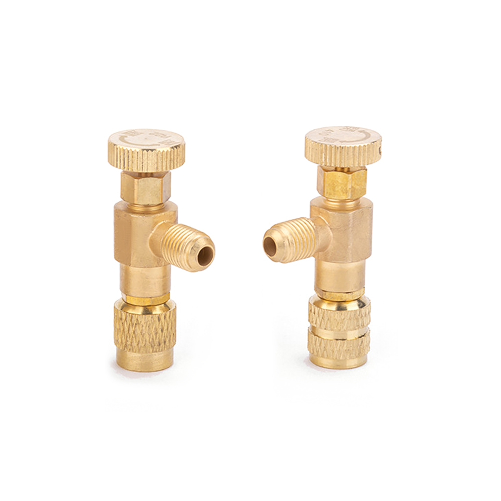 1//4/'/'-5//16/'/' Durable Copper Flow Control Valve Refrigerant Charge Hose r410 r32