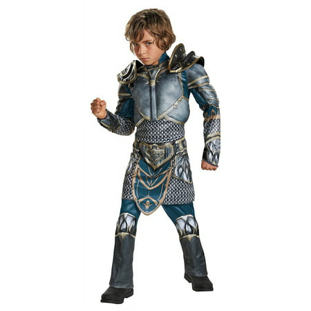 World of Warcraft Lothar Muscle Boys Halloween Costume