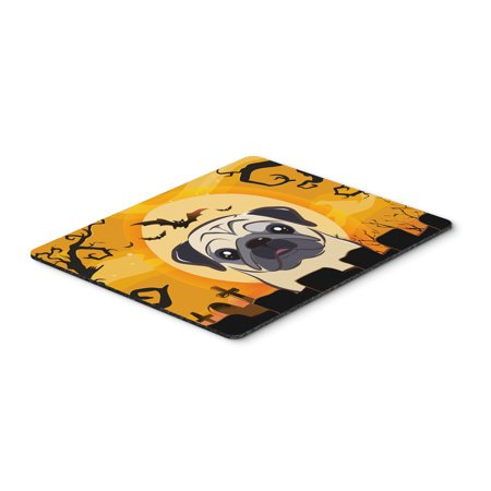 Halloween Fawn Pug Mouse Pad, Hot Pad or Trivet BB1820MP (Halloween Pugs)