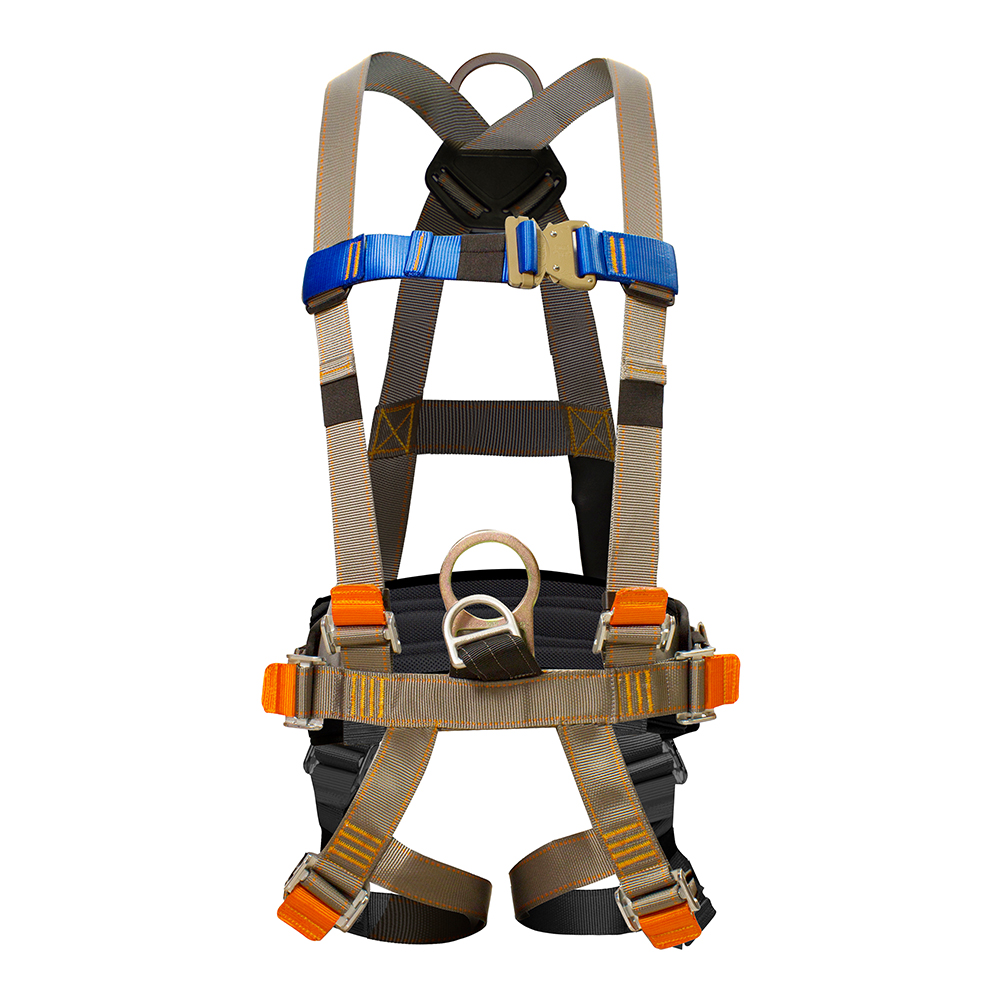Fusion Climb Plemistis High Strength H-Style Padded Commercial Zipline Harness 23kN M-XL Coyote Brown