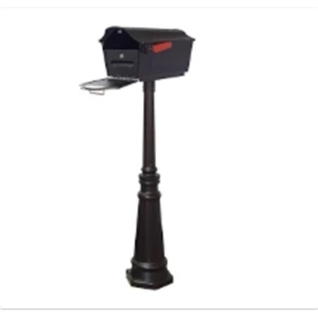 Special Lite Products Town Square Curbside Mailbox with Locking Insert and Tacoma Mailbox Post with Direct Burial Kit