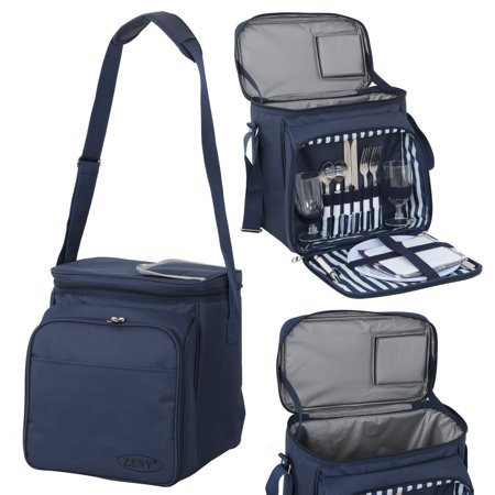 Zeny Insulated Picnic Backpack Lunch Tote Cooler Compartment - Lunch Basket