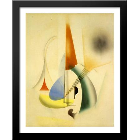 Jazz 28x34 Large Black Wood Framed Print Art by Man Ray