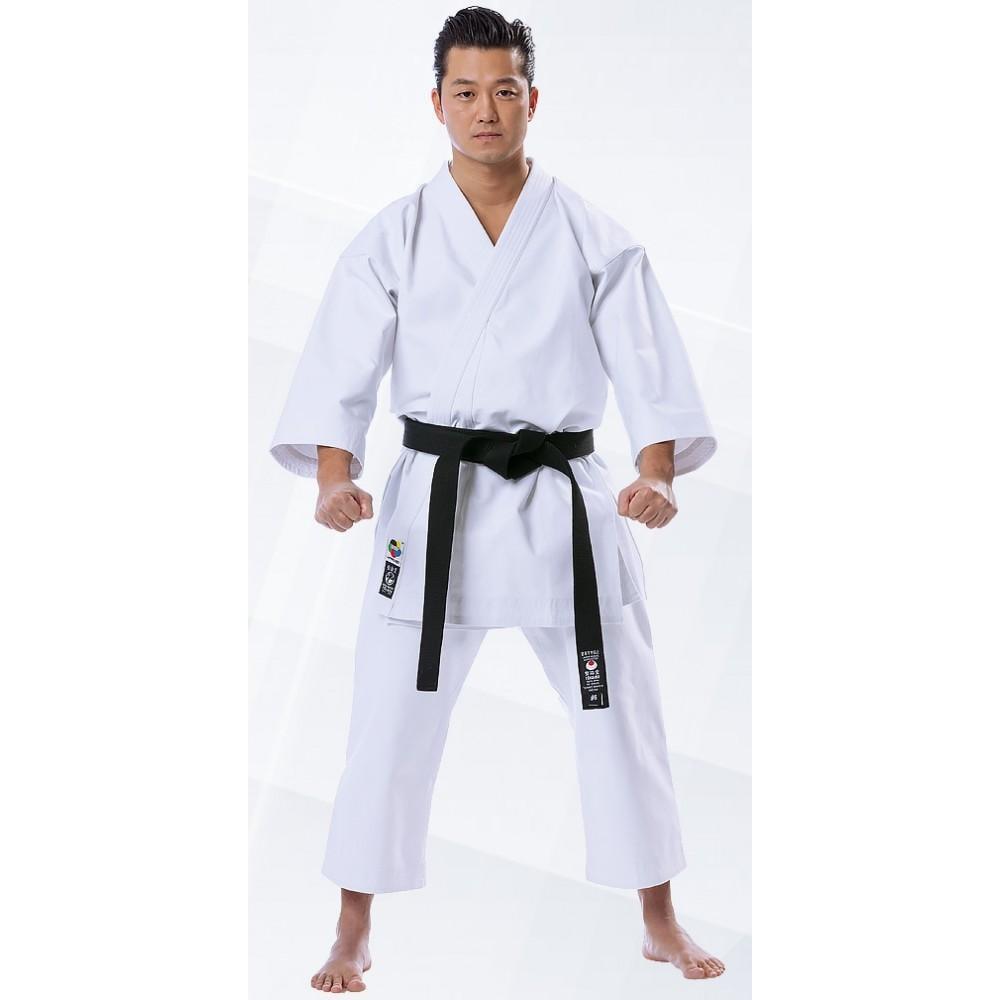 Tokaido Karate Middleweight Kata WKF Gi Silver 12oz American Cut Uniform