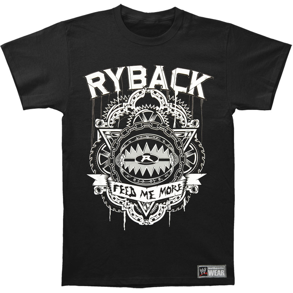 WWE Men's  Ryback Feed Me More T-shirt Black