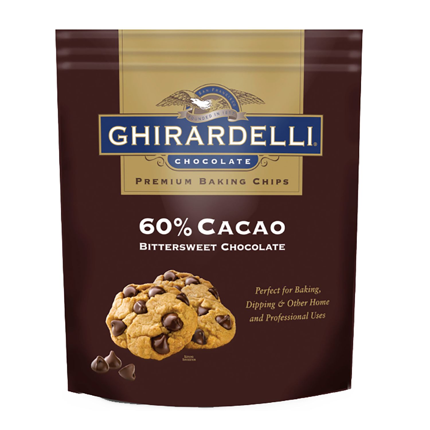Ghirardelli 60% Cacao Bittersweet Chocolate Baking Chips (30 oz.) by Ghirardelli Chocolate Co.